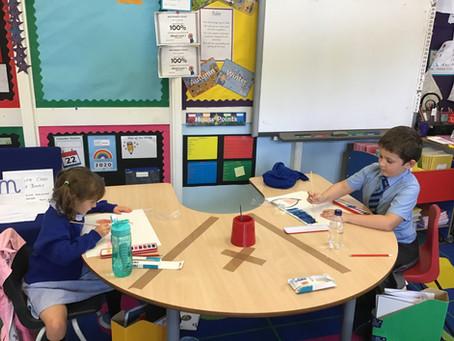 Fun art afternoon in Sapphire Class