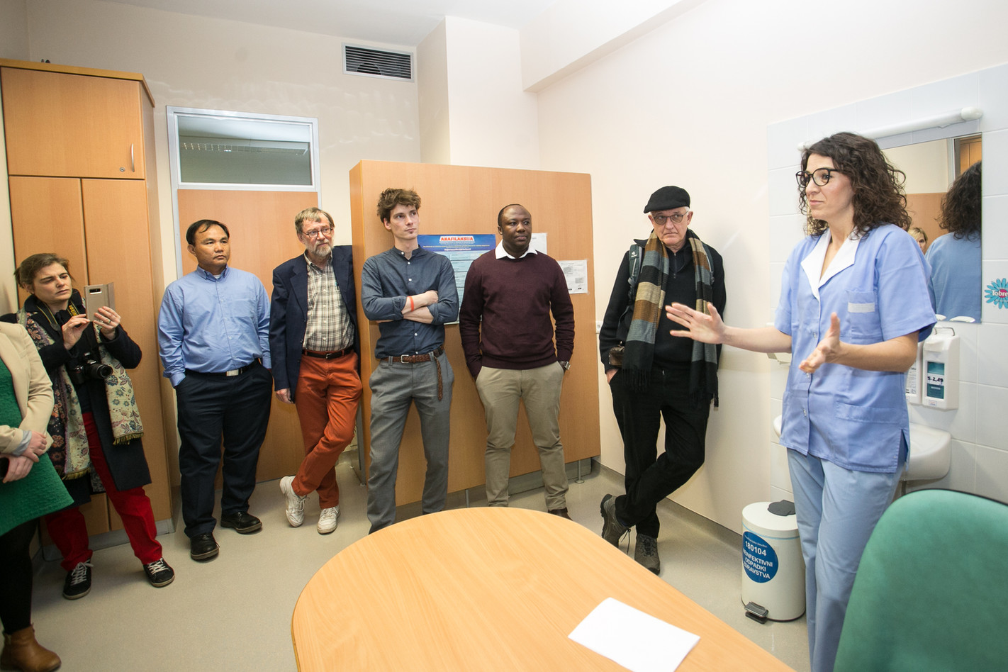Metka Žitnik, explaining her duties as a registered nurse in a model practice of family medicine