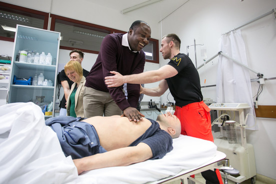 Daniel saving model patient's life