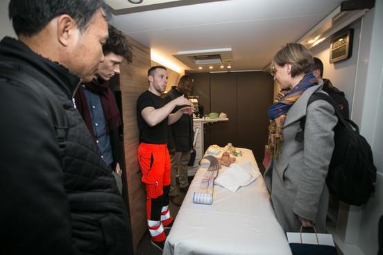 Visit of the mobile SIM (simulation) Unit: model baby