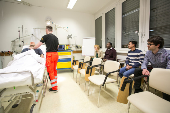 Visit of the simulation center