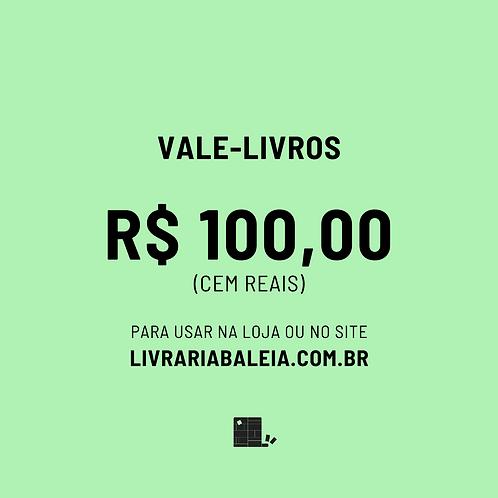 Vale R$100 em livros