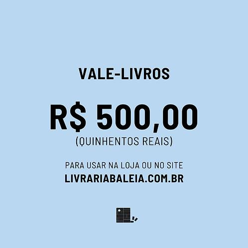 Vale R$500 em livros