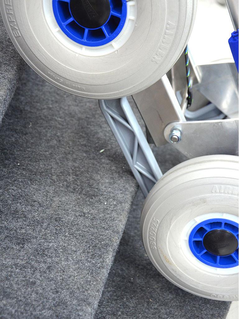 Liukukiskoja voi käyttää normaalisti tukipyörästön ollessa taitettuna pois käytöstä
