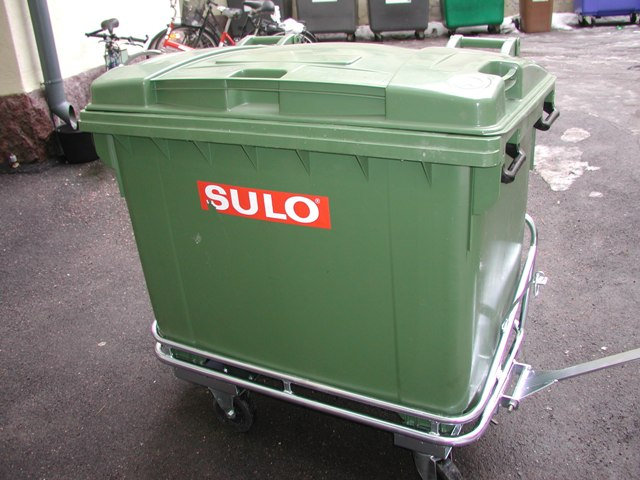 Sulo-jäteastian alusvaunu