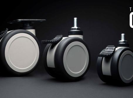 Uusi jarrullinen kaksoiskääntöpyörä Oslo 75 mm