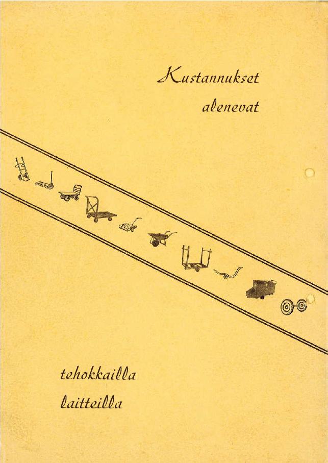 Rengastalo esite vuodelta 1954 takakansi