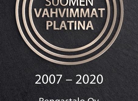 Suomen vahvimmat Platina-erikoissertifikaatti