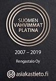 Rengastalo Oy Suomen vahvimmat platina 2007 - 2019