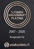 Rengastalo Oy Suomen vahvimmat platina 2007 - 2020