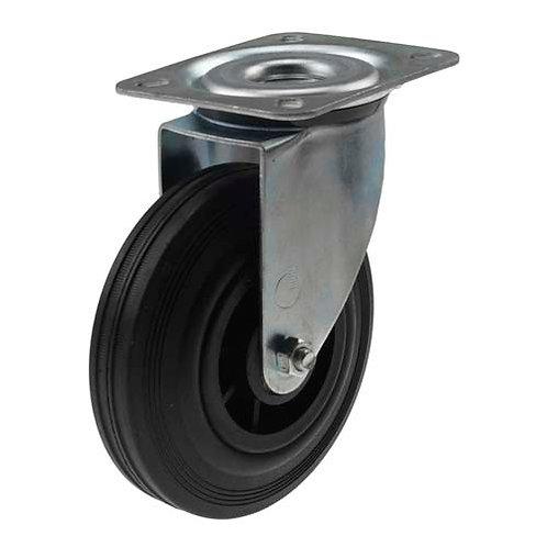 Teollisuuspyörä umpikumi 200 mm kääntöpyörä