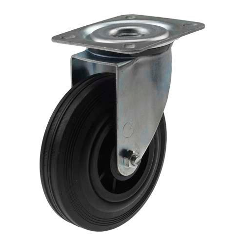 Teollisuuspyörä umpikumi 125 mm kääntöpyörä