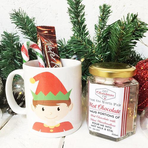 ELF mug and luxury hot chocolate gift set