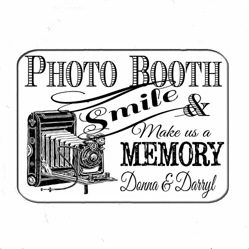Vintage Photo Booth Personalised Sign