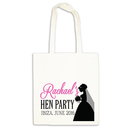 Beautiful Bride Hen Party Tote Bag.