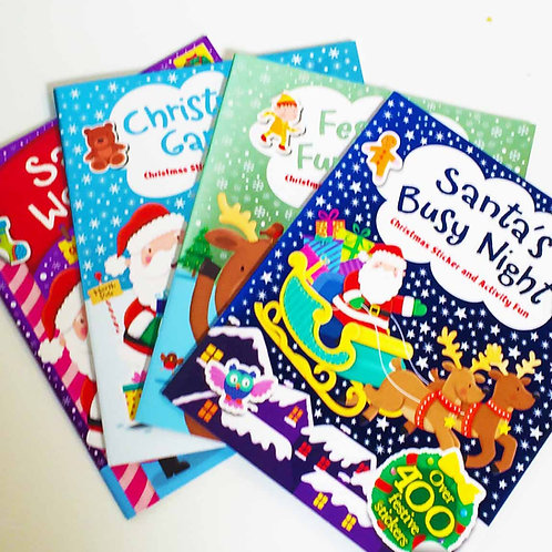Christmas activity sticker books 4 varieties