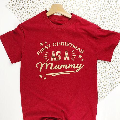 First Chritmas as a Mummy T shirt tee.