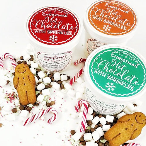 Christmas Hot Chocolate in a tub