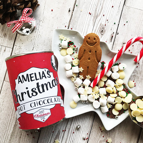 Hot Chocolate in Personalised Tin