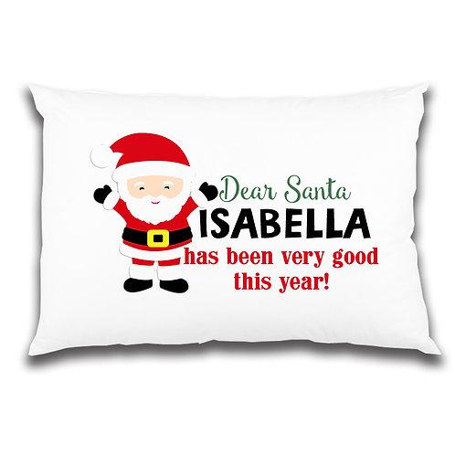 Santa personalised pillowcase