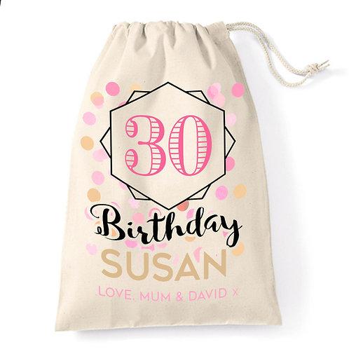 30th Birthday Girl Gift Bag.