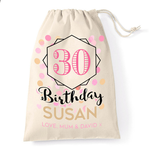Add A Special Touch To Your Birthday Gifts This Year With Wonderful Personalised Cotton Gift Bag Cute Is Printed The Quirky