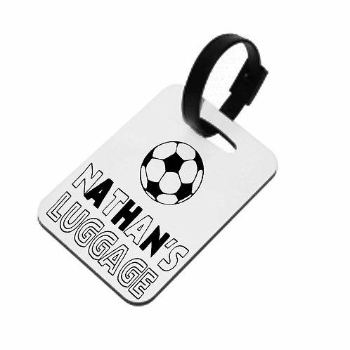 Football Personalised Luggage Tag