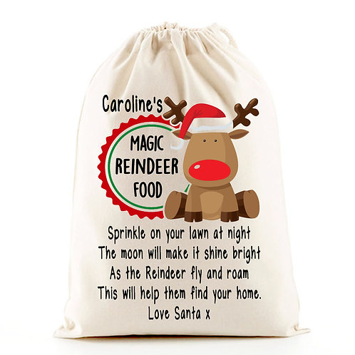 Magic Reindeer Food Bag Personalised