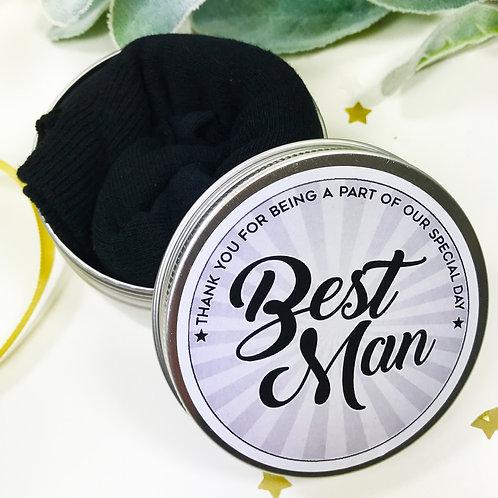 Tin of Socks Best Man Wedding Morning Gift