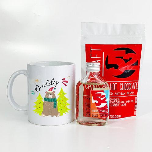 Bear Christmas Mug & Trio Hot Chocolate Set   Personalised