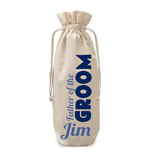Personalised Father of the Groom Wine Bag