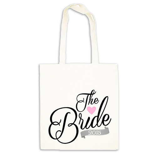 Beautiful bride to be tote gift bag.