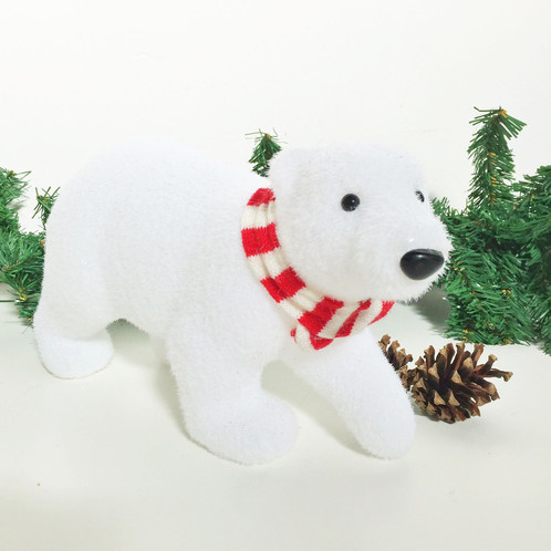 cute polar bear christmas decoration ornament 30cm