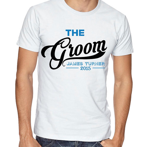 The Groom Wedding morning  T Shirt