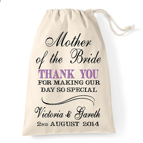 Mother of the Bride/Groom thank you Gift Bag.