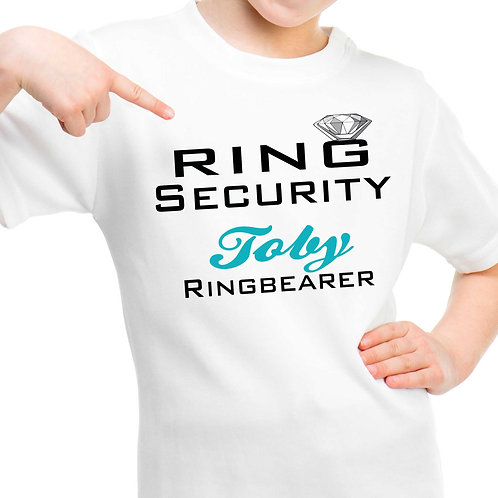 Ring Security Ring Bearer Kids T Shirt