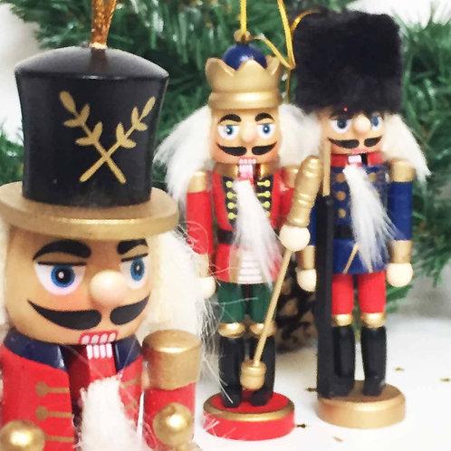 Wooden Nutcracker traditional Christmas tree decoration