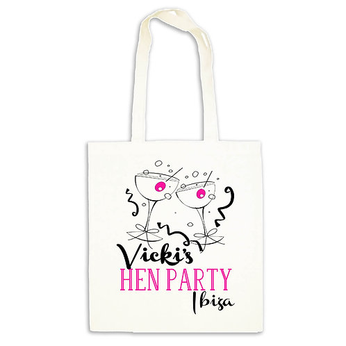 Hen Party Cocktails Tote Gift Bag
