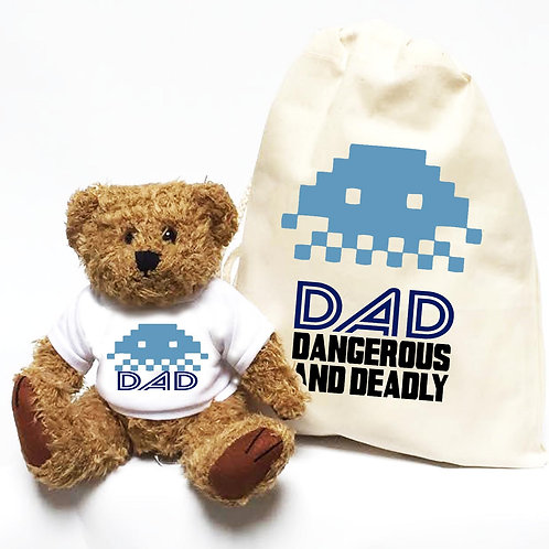 Space Invader retro Father's Day Teddy Bear