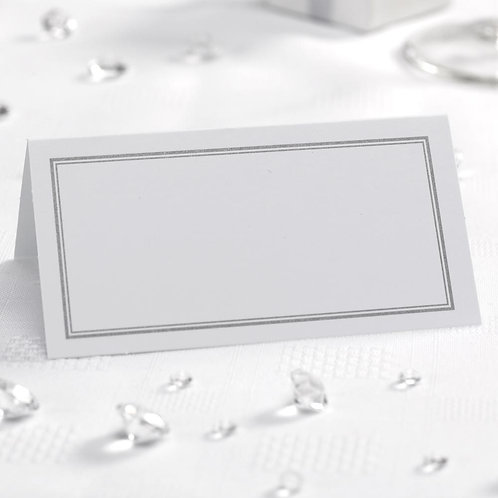 Wedding table place cards, white.
