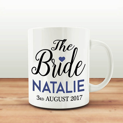 Personalised mug for the Bride to be.