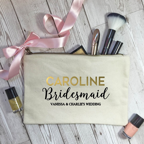 Make up bag for the Mother of the Bride.