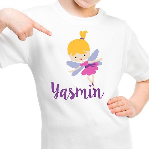 Fairy princess personalised t shirt.