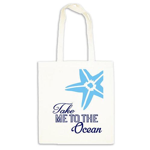 Beach bag tote to take to the Ocean