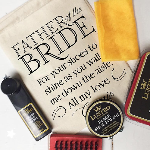 Father of the Bride Shoe Shine Kit