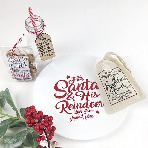 Christmas Eve Santa plate Gift set