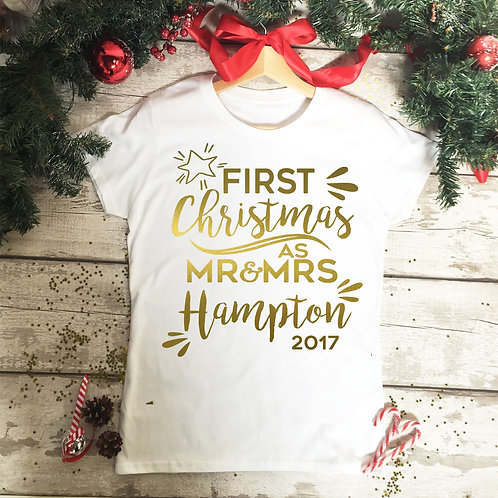 First Christmas as Mr and Mrs T Shirt.