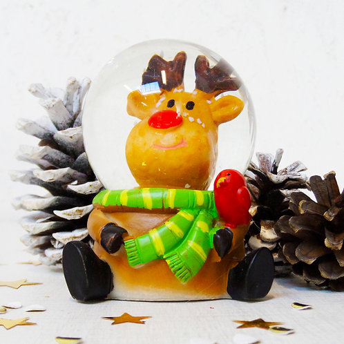 Rudolf the red nose reindeer mini snow globe