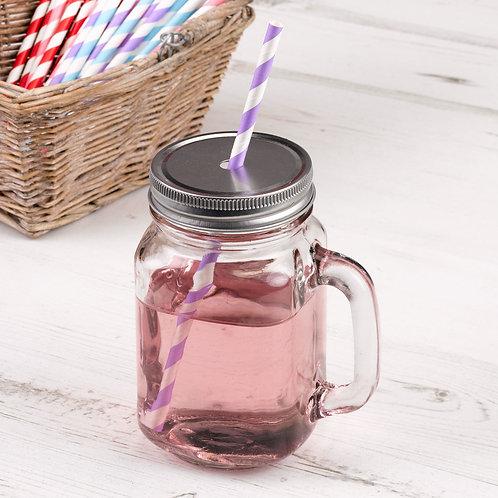 Glass wedding mason jar.