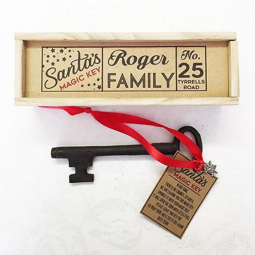 Santa's Magic Key in a Wooden Gift Box.